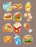 Etiquetas engomadas de los alimentos de preparación rápida Imágenes de archivo libres de regalías