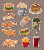 Etiquetas engomadas de los alimentos de preparación rápida Fotos de archivo