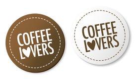 Etiquetas engomadas de los amantes del café Fotografía de archivo