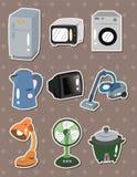 Etiquetas engomadas de los aparatos electrodomésticos Foto de archivo libre de regalías