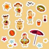 Etiquetas engomadas de los días de fiesta de los cabritos Fotografía de archivo libre de regalías