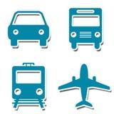 Etiquetas engomadas de los iconos del viaje libre illustration