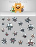 Etiquetas engomadas de los monstruos Foto de archivo libre de regalías