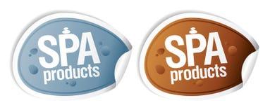 Etiquetas engomadas de los productos del BALNEARIO. Foto de archivo libre de regalías