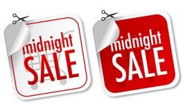 Etiquetas engomadas de medianoche de la venta Imagen de archivo libre de regalías
