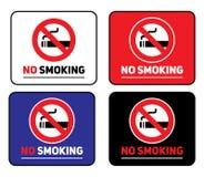 Etiquetas engomadas de no fumadores del sistema de etiquetas ilustración del vector