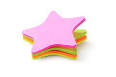 Etiquetas engomadas de papel coloridas de la forma de la estrella Foto de archivo libre de regalías