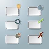 Etiquetas engomadas de papel gráficas stock de ilustración