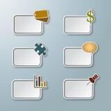 Etiquetas engomadas de papel gráficas ilustración del vector