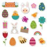 Etiquetas engomadas de Pascua Fotos de archivo libres de regalías
