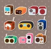 Etiquetas engomadas de radio Fotografía de archivo libre de regalías