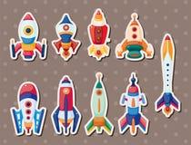 Etiquetas engomadas de Rocket Fotos de archivo libres de regalías
