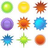 Etiquetas engomadas de Starburst: Separadores Imagen de archivo