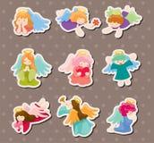 Etiquetas engomadas del ángel Fotos de archivo libres de regalías