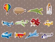Etiquetas engomadas del aeroplano Foto de archivo