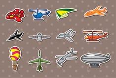 Etiquetas engomadas del aeroplano Fotos de archivo