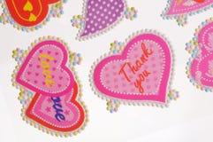 Etiquetas engomadas del amor Fotografía de archivo libre de regalías
