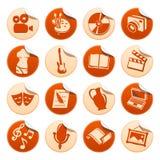 Etiquetas engomadas del arte y de la manía Stock de ilustración