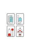 Etiquetas engomadas del astronauta para los niños Imagenes de archivo