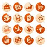 Etiquetas engomadas del asunto Stock de ilustración