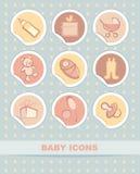 Etiquetas engomadas del bebé Fotografía de archivo
