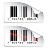 Etiquetas engomadas del código de barras Imagen de archivo