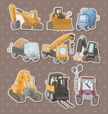 Etiquetas engomadas del carro Foto de archivo libre de regalías