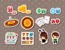 Etiquetas engomadas del casino Imagen de archivo