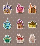 Etiquetas engomadas del castillo Imagen de archivo