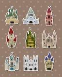 Etiquetas engomadas del castillo Imágenes de archivo libres de regalías