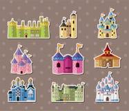 Etiquetas engomadas del castillo Imagenes de archivo