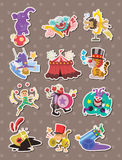 Etiquetas engomadas del circo Foto de archivo libre de regalías