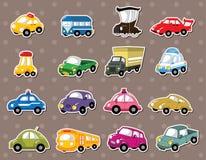 Etiquetas engomadas del coche Imagen de archivo libre de regalías