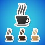 Etiquetas engomadas del coffe del vector Fotografía de archivo