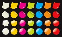 Etiquetas engomadas del color Ilustración del Vector