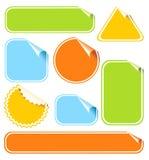 Etiquetas engomadas del color fijadas Imagen de archivo libre de regalías