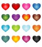 Etiquetas engomadas del corazón Fotos de archivo libres de regalías