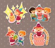 Etiquetas engomadas del cumpleaños Imagen de archivo libre de regalías