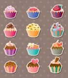 Etiquetas engomadas del Cup-cake Foto de archivo libre de regalías