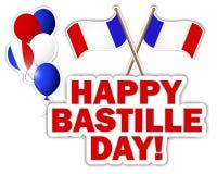 Etiquetas engomadas del día de Bastille. Fotografía de archivo libre de regalías