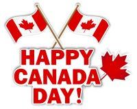 Etiquetas engomadas del día de Canadá. Foto de archivo