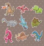 Etiquetas engomadas del dinosaurio stock de ilustración