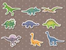 Etiquetas engomadas del dinosaurio Imagenes de archivo