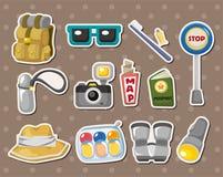 Etiquetas engomadas del elemento del recorrido Fotografía de archivo libre de regalías