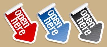 Etiquetas engomadas del embalaje Fotografía de archivo