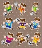Etiquetas engomadas del fútbol Fotos de archivo libres de regalías
