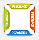 Etiquetas engomadas del feedback libre illustration