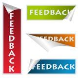 Etiquetas engomadas del feedback stock de ilustración