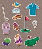 Etiquetas engomadas del golf Imagenes de archivo