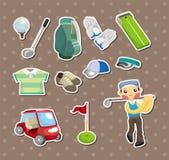 Etiquetas engomadas del golf Fotografía de archivo libre de regalías